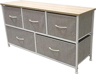 RYUNQ Armoire de rangement à 5 tiroirs - Meuble de rangement multifonction pour chambre à coucher, salon, bureau - 100 x 3...