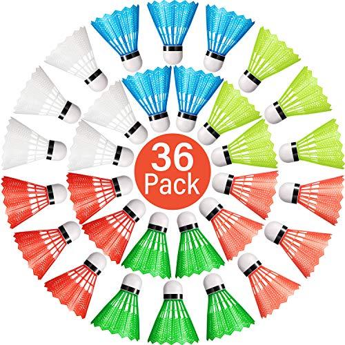 Sumind Nylon Badminton Federbälle Bunte Plastik Birdies Badmintonbälle Sporttraining Badmintonbälle für Indoor Outdoor Sport (36)