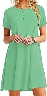 Women Short Sleeve Loose Casual T-Shirt Tops Dress Plus Size 2XS-5XL