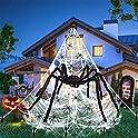 Kuchey Halloween Decorations 200 Inch Triangular Spider Web
