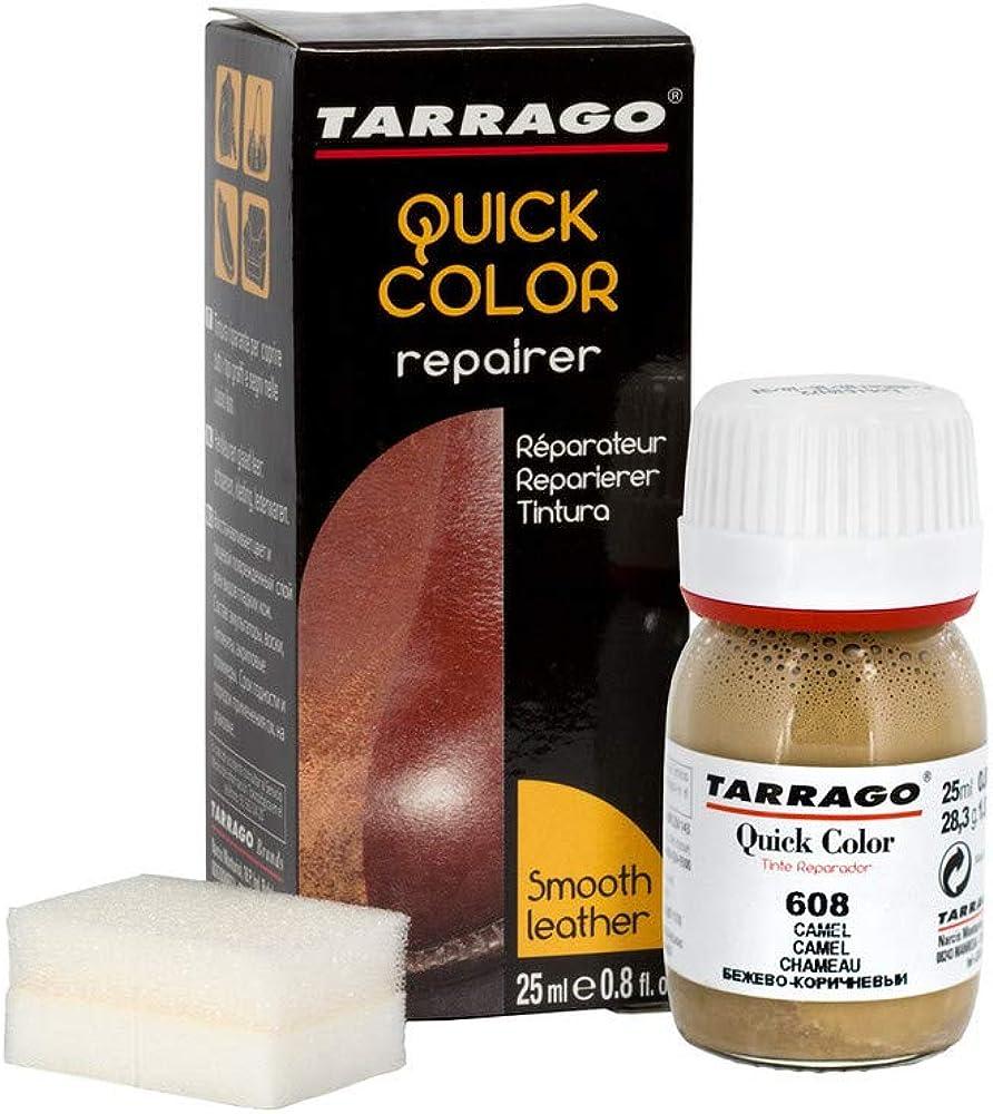 Tarrago | Quick Color 25 ml | Tinte Para Zapatos y Accesorios de Piel, Cuero Liso y Lona | Tintura de Secado Rápido Que Repara y Protege el Calzado de ...
