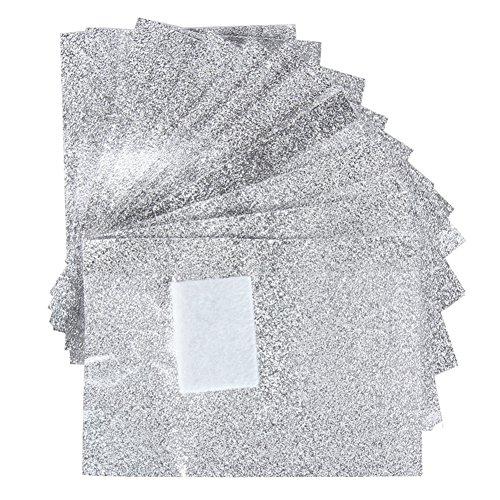 DaoRier Papier Aluminium avec Coton Foil Wraps pour Vernis Dissolvant Soak Off UV Gel Manucure,100 Pcs