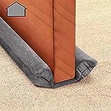 GDHOMM Under Door Draft Stopper 30 to 36 inches Size Adjustable Door Noise Blocker Door Air Blocker for Noise Light Smell Stopper (Gray)