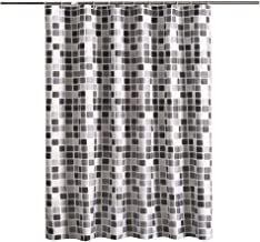 """Home Decorative Shower Curtain Set for Bathroom 72""""x79""""(180x200cm) with Hooks No Liner Needed Waterproof Quick-Drying Polyester Fabric"""