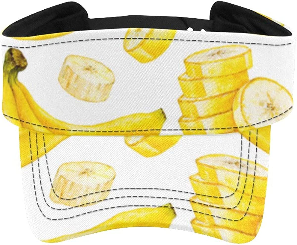 Running Alternative dealer Special price Hat Women Summer Delicious Men's Bananas Yellow Ca Visor