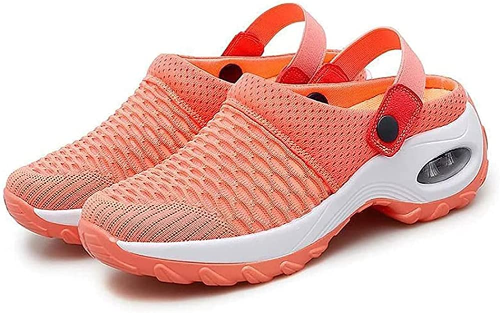 Qvc-Clark Women's Orthopedic Diabetic Walking Shoes, Women's Breathable Casual Air Cushion Slip-on Shoes with Concealed Orthotic Arch Support
