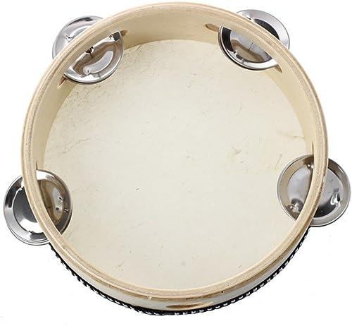 Tambourin en peau de mouton Lumanuby super robuste, diamètre de 15cm, instrument à percussion pou...
