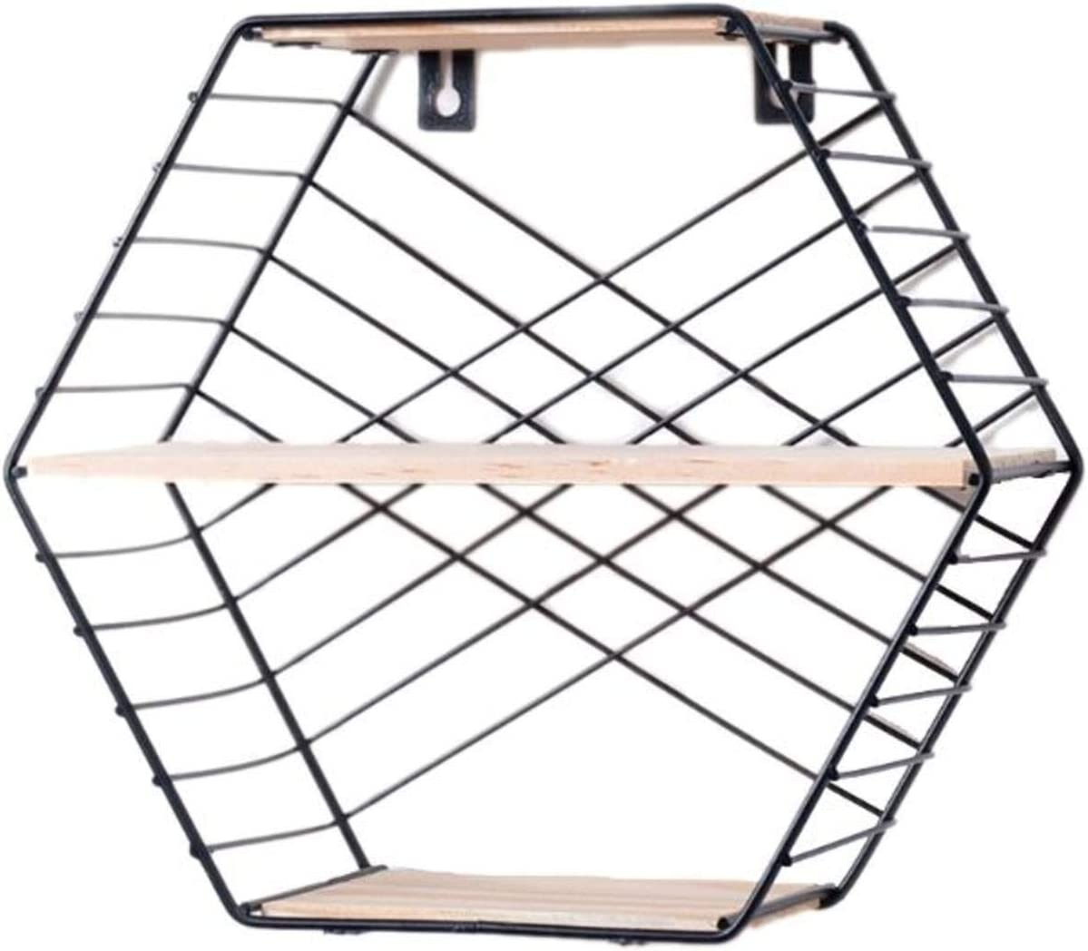 N\C Wrought Iron Hexagonal Limited price sale Wall Room Living Columbus Mall Bedroom Hanging