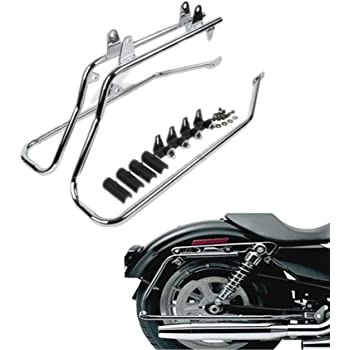 BLACK Open Box Saddlebag Supports For 1984-Present Harley Davidson Softail