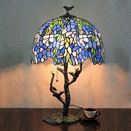 16 Zoll im europäischen Stil mediterrane blaue exotische Schlafzimmer Arbeitszimmer Wohnzimmer Bar Tiffany Style Tischlampe Schreibtischlampe
