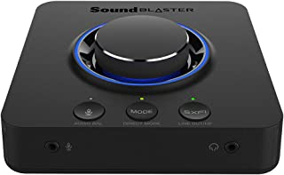Sound Blaster X3 Hi-Res External USB DAC and Amp Sound Card with Super X-Fi Holographic Audio, 7.1 Discrete Surround and Dolby Digital Live with Line-in and Optical-Out for PC and Mac