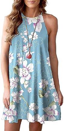 Soufun Maxi Dress Mopping Skirt Womens Casual Striped Boho Sleeveless Beach Summer Sundress Splice as Gifts for Party