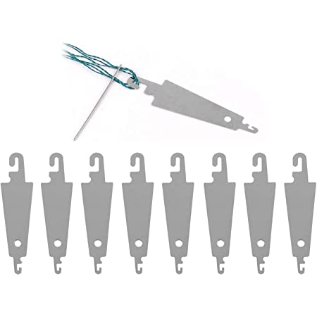 50Pcs Stainless Steel Sewing Needle Threaders Cross Stitch Needle-Threading Tools Needle Threader for DIY Sewing Large Eye Needles - 5cm