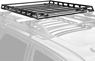 Slim Low-Profile Car Roof Rack Camping Cargo Basket