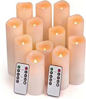 Comenzar Flameless Candles, Led Candles Set of 12(H 4