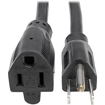 Tripp Lite Heavy-Duty Power Extension Cord 15A, 14AWG (NEMA 5-15P to NEMA 5-15R) 6-ft.(P024-006)