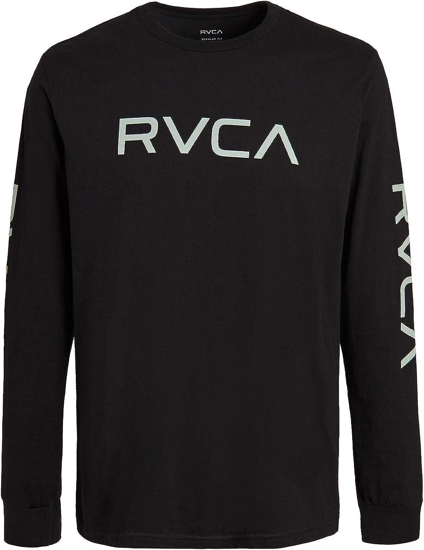 RVCA Men's Big Long Neck Crew Sleeve Trust New popularity T-Shirt