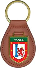 Yanez Family Crest Coat of Arms Key Chains