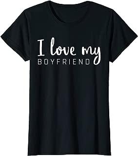 I love my Boyfriend Girlfriend Matching Couple Shirts Outfit