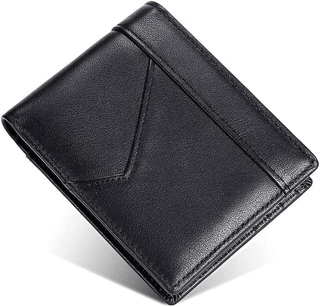 Dacomfy Minimalist Wallet for Men Rfid Blocking, Mens Slim Bifold Leather Wallet Money Clip Card Holder