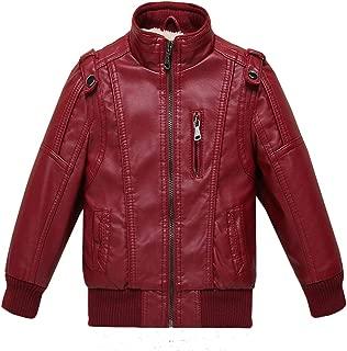 Girls Leather Jacket Kids Fleece Jackets Boys Motorcycle Outwear Coat
