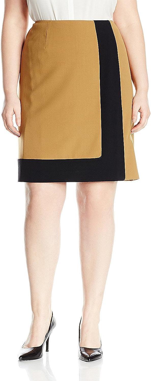 NINE WEST Women's Plus Size Colorblock Skirt