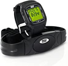 Smart Fitness Heart Rate Monitor - Digital Sports Wrist Watch Activity HR Tracker w/ Chest Strap, 3D Sensor, EL Backlight, Alarm, Used in Exercise or Running, For Men and Women - Pyle