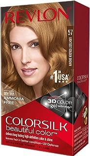 Revlon ColorSilk Beautiful Color Permanent Hair Color, 57 Lightest Golden Brown 1 Each (Pack of 5)