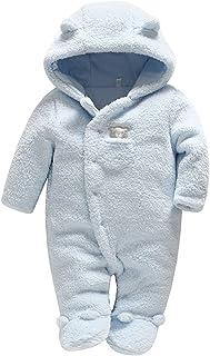 الشتاء طفل الفتيات الفتيان القدمين السروال القصير الخريف الدافئة أبلى الرضع الاطفال ملابس النوم الشاملة (Color : Blue, Kid...