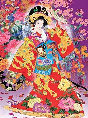 TWYYDP Puzzle 1500 Piezas Geisha Japonesa Hecho De Tablero De Madera No Se Deformará