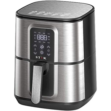 Stok Air Fryer Max LED Digital Touchscreen with 8 Presets,6.5 Liter 1800-Watt Electric Hot Air Fryers Oven & Oil-Less Cooker for Roasting,(29 Recipes in one Book and Metal Grill Free in Box Package) Air Fryer