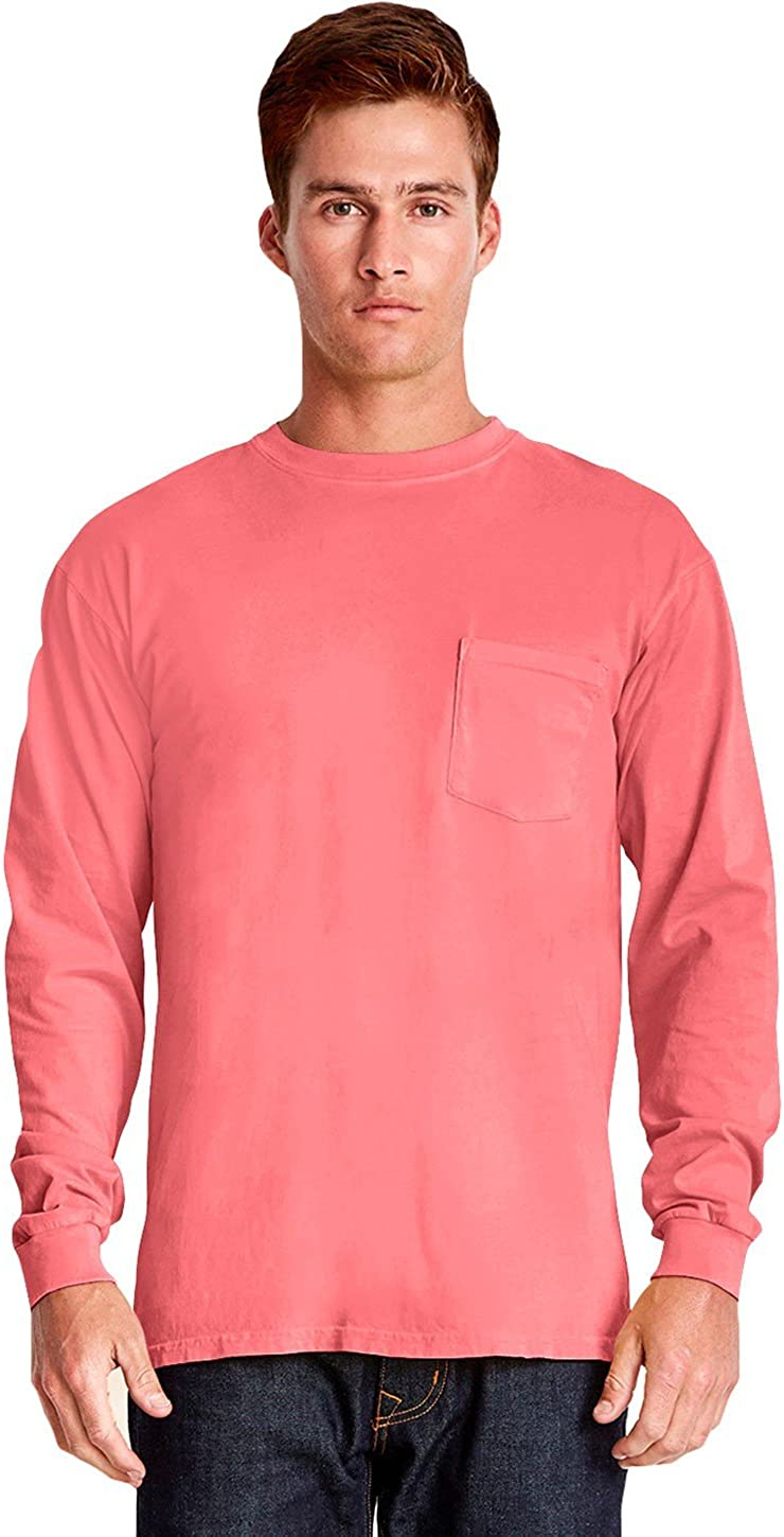Inspired Dye Long-Sleeve Crew with Pocket (7451)