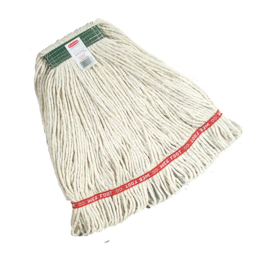 Rubbermaid overseas Commercial Web Foot Wet Cotton Import Mop White Synthetic
