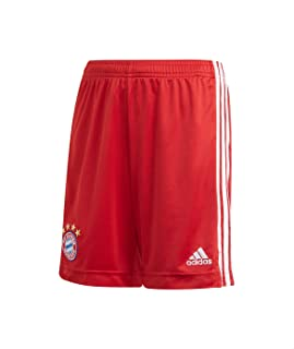 Adidas FC Bayern Drawstring Elastic Waist Sport Shorts for Boys - Red and White, 13-14 Years