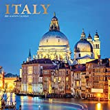 Italy 2021 12 x 12 Inch Monthly Square Wall Calendar with Foil Stamped Cover, Scenic Travel Europe Italian Venice Rome