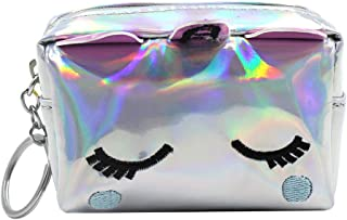 Holographic Unicorn Change Coin Purse Small Wallet for Girls Boys Women