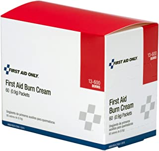 First Aid Only Pac-Kit 13-600 First Aid/Burn Cream, 0.9 gm Packet (Box of 60)