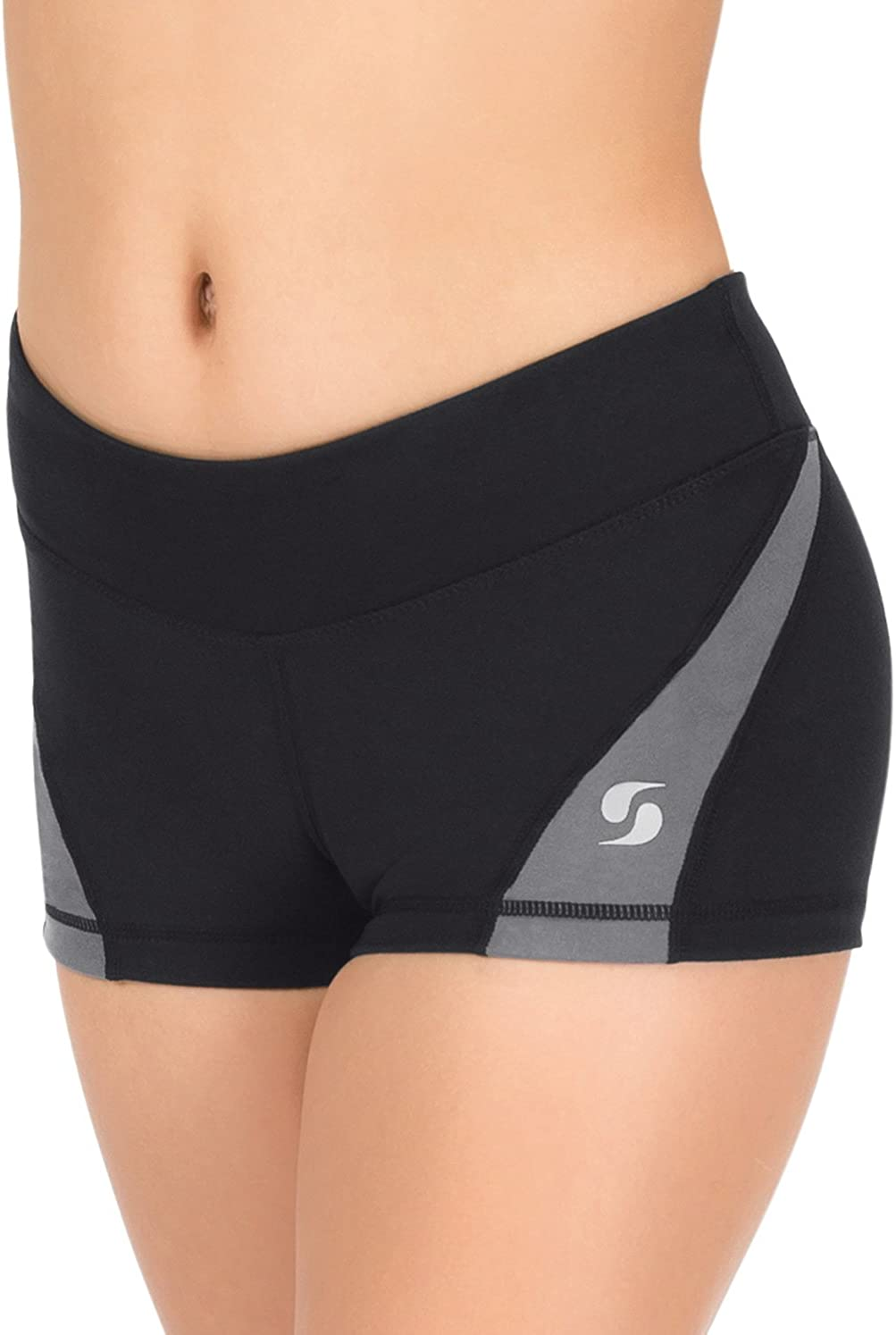 Recommendation Girls National products Colorblock Running Shorts Gunmetal Large 1180GBKGUL Black