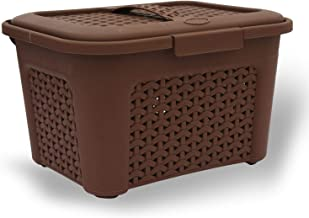 JRM's Portable Multi Purpose Medicine Storage Box with Detachable Tray & Handle for Home Camping Travel Hiking (Brown)
