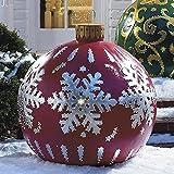 Bola inflable decorada de Navidad al aire libre, Bola inflable de Navidad gigante Decoraciones para árboles de Navidad, Decoraciones inflables para exteriores de Navidad Decoración de bolas inflables