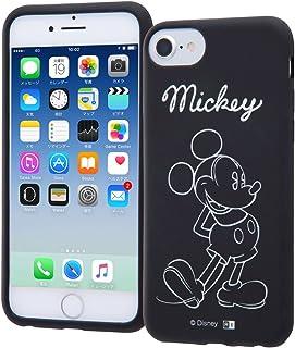 ディズニー iPhone SE(第2世代) / iPhone 8 / iPhone 7 / 6s / 6 シリコン ケース カバー ミッキーマウス カーヴィング IN-DP7S6C/MK