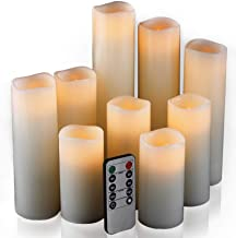 Flameless Candles, Led Candles Set of 9(H 4