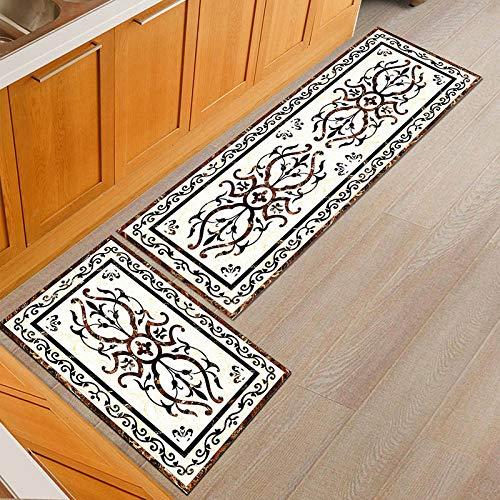 HLXX Alfombras de Puerta Simples Personalizadas a Prueba de Polvo alfombras de Mesa de Comedor de Cocina Antideslizantes alfombras de Puerta Lavables A14 40x60cm