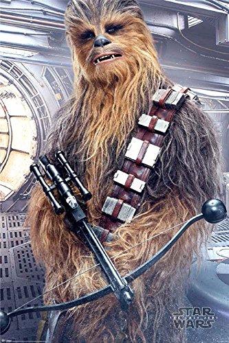 Star Wars - The Last Jedi - Chewbacca Bowcaster - Poster Plakat - Größe 61x91,5 cm + 1 Ü-Poster der Grösse 61x91,5cm