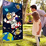 Blulu Space Birthday Party Supplies,Space Game Birthday Party Astronaut Toy, Astronaut Toss Games Sets for Kids and Adults in Solar System Party Activities
