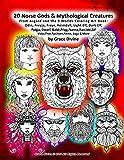 20 Norse Gods & Mythological Creatures From Asgard and the 9 Worlds Coloring Art Book: Odin, Freyja, Freyr, Heimdall, Light Elf, Dark Elf, Fylgja, ... Saga & More by Grace Divine