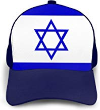 KKWWYYBQM Israel Flag Adjustable Baseball Cap,Dad Hat