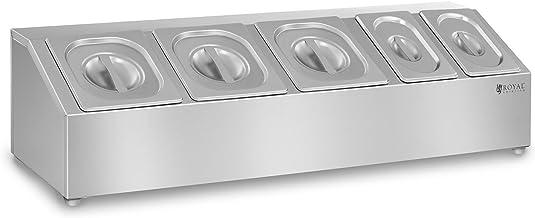 Royal Catering Soporte para Cubetas GN RCTS 1/6/1/9 (Acero inoxidable, para GN 1/6 und GN 1/9, Posibilidad de montaje en la pared, Apto para lavavajillas)