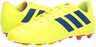 blue and yellow youth football cleats