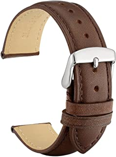 WOCCI 21mm Watch Band Dark Brown Vintage Leather Watch Strap for Men or Women